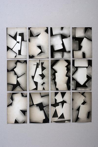 Série de 12 photogrammes sur papier Orwo  9x13
