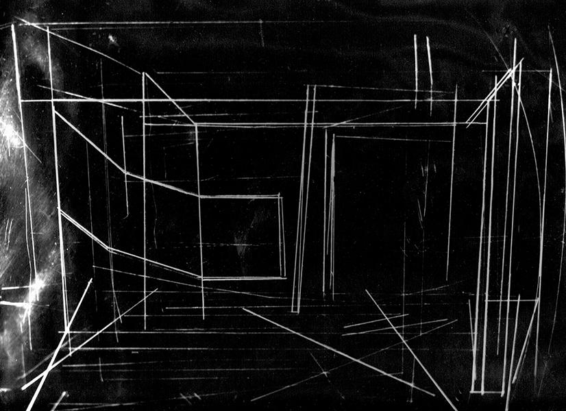 cliché verre sur plexiglass 24x30 par contact