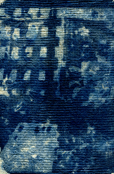 cyanotype sur papier chiffon 24x28